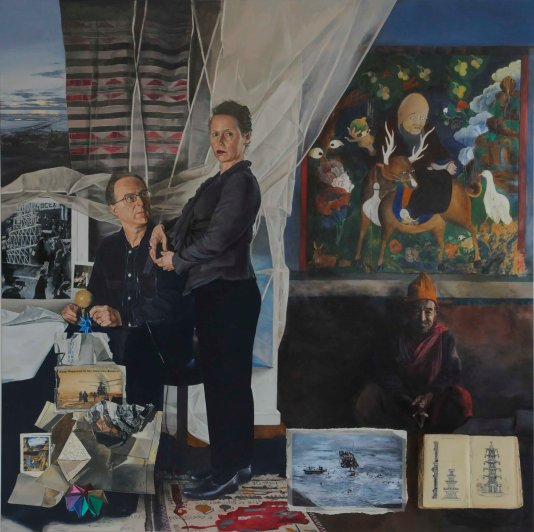 Lyndell Brown and Charles Green, An End to Suffering, 2009, oil on linen, 172 x 172 cms